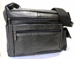 ★☆高級本革★立体的多機能デザイン/レザーショルダーバッグ