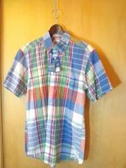 ブリーズン購入Reasonインディアンマドラスチェック半袖BDシャツM新品タグ付