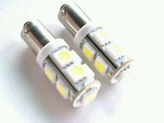 24V LED BA9S 9連 2個 ホワイト 白  庫内灯 角マーカー G14