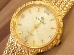 8925/SANDOZ新品未使用★天然5ポイントダイヤ付きレディース腕時計