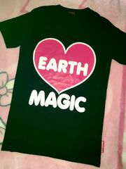 ♯EARTHMAGIC♯前後ロゴがめちゃ可愛Tシャツ160アースマジックロニィ