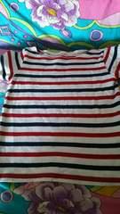 赤ボーダー★カジュアルTシャツ★size90