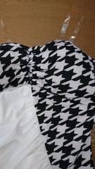 千鳥柄☆ミニタイトドレス☆ホワイト☆新品