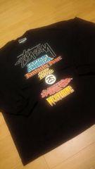 STUSSY&MARVEL  コラボ  WORLD-TOUR  黒  大きい size2XLラスト