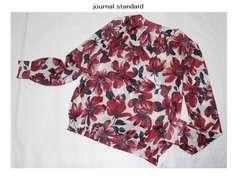 ジャーナルスタンダード*journal standardツイルカルゼ花柄ブラウス新品