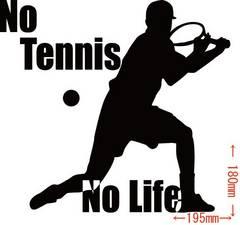 カッティングステッカー No Tennis No Life (テニス)・2