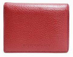 美品Burberryバーバリー 二つ折り財布  赤 良品 正規品