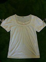 美品 axes femme  アクシーズ ストーン レース 刺繍 パール トップス カットソー Tシャツ