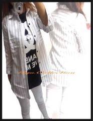 定番!!アメカジストライプ柄☆2wayシンプルシャツ☆W