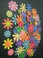 クラフトパンチ重ねてもカワイイ2サイズお花(デイジーフラワー)10色100枚