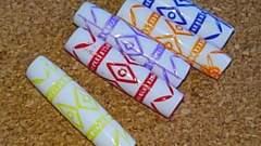 ハンドメイド素材/カラフル筒型ビーズ5つ