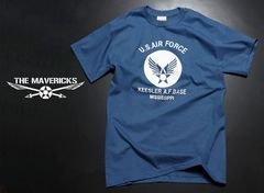 USAFエアフォースTシャツ・青白S・新品/ミリタリーアメカジ系