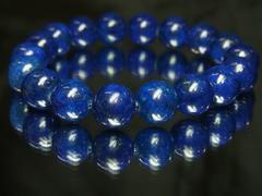開運数珠!ラピスラズリ10ミリブレスレット!神聖なる天然石