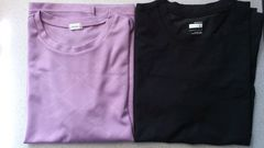 激安94%オフまとめ売り、ナイキ、ドライシャツ2枚(�@黒L、�A紫LL)