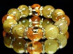 金運がっぼり!風水四神Xゴールドルチル16ミリ数珠