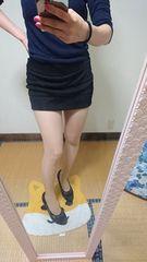 セシルマクビー スカート風 ショーパン ブラック ラメ ボーダー