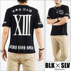 メール便送料無料【G.H.R NINE&THIRTEEN】70726Tシャツ黒銀L