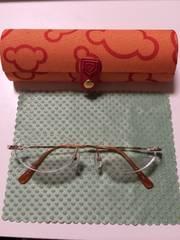 超弾性合金ツーポイントメガネ AZ-1013 高級 美品