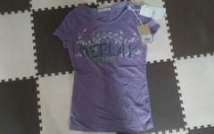 新品 タグ付き REPLAY定価9450円の品 半袖Tシャツ パープル