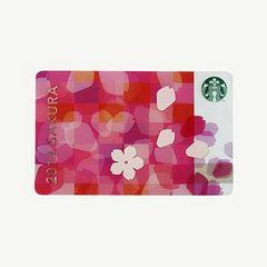 NEW限定レア2014SAKRA花ビラ柄STARBUCKSカード千円チャージ