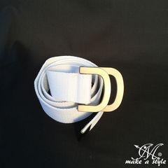 D-RING Dリング ダブルリング キャンバス ベルト ホワイト 472