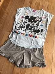 キッズ 半袖Tシャツパジャマ ルームウェア  ディズニー 120