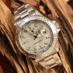 最安値!ロレックス★ヨットマスタータイプ◇クォーツ メタル腕時計・シェル×シルバー