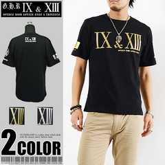 メール便送料無料【G.H.R NINE&THIRTEEN】70727Tシャツ黒金L