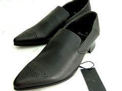 3.1万新品トルネードマート黒L レザー本皮革シューズ靴ミュール