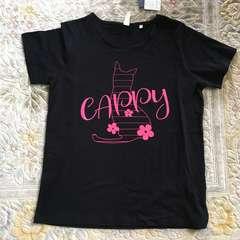 大きいサイズ3L・ロゴ&猫シルエットプリントTシャツ