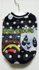 ハンドメイド*グラグラTシャツ*黒・ドット・パンダ・パネル・犬用*L