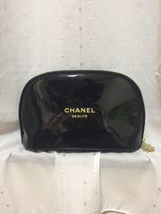 シャネル新品エナメル ポーチSバッグ付ブラックセカンドバッグ