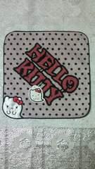 新品HELLO KITTYハローキティ☆おばけキティ刺繍タオルハンカチ☆ハロウィン赤