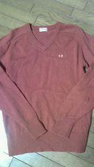 メンズのMサイズ。Vネック長袖のセーターです。