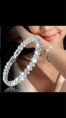可愛いシルバーS925ダイヤモンドブレスレット女性