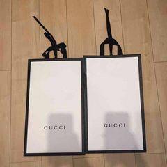 美品グッチGUCCIショップ袋紙袋ショッパー2枚セット