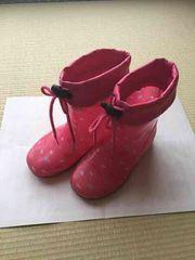 美品!!履き口調整可能ピンク長靴