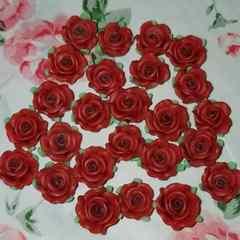 8ミリ ☆ 25コ ☆(ブラウン)樹脂薔薇
