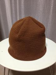 古着 ニューヨークハット ニットキャップ ビーニー 帽子 茶色 S〜M 小さめ 綿 ストレッチ