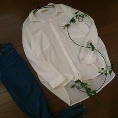 〇ZARA〇ガーゼコットンのゆったりシャツ*・゜XLサイズ