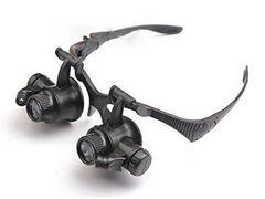 10-25倍LED付 ヘッドルーペRメガネタイプ 拡大鏡