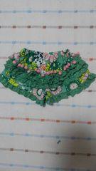 美品♪ブーホームズ♪グリーン花柄ショートパンツ♪90�p