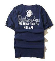 ape 半袖Tシャツ ネイビー XL エイプ a bathing ape po