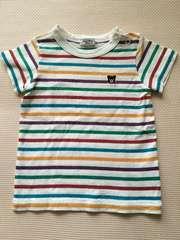 ミキハウス/DOUBLE.B☆カラフルボーダーTシャツ80