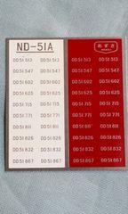 あずさ模型 ND‐51A DD51用ナンバープレート