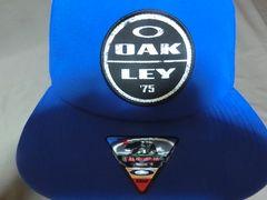 USA購入【Oakley Foundation Cap】ロゴワッペン付CAP青