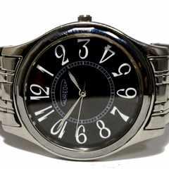 美品【980円〜】AUREOLE 大型 メンズ腕時計