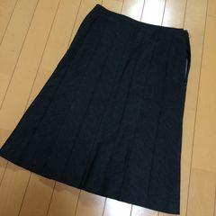新品◆デニムブルー◆膝丈スカート◆W64