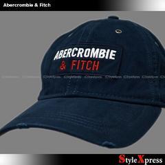 アバクロンビー&フィッチ 紺 刺繍ロゴ キャップ 帽子 メンズ