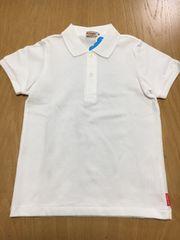 295★新品★ミキハウス★ポロシャツ★白
